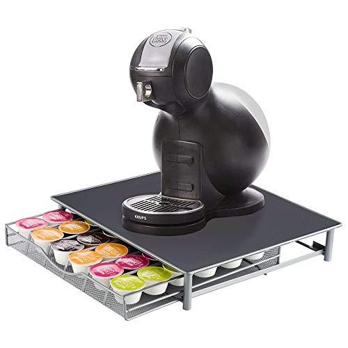 Boîte de rangement de 36 dosettes de café avec tiroir coulissant, boîte de rangement empilable, support de rangement de café, tiroir à capsules