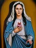 FHGFB 5D-DIY-Diamante Pintura Imagen Completa Virgen María Bordado De Diamantes Religiosos Mosaico Decoración Hogar Arte Artesanía Sin marco-40x50cm