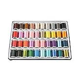 40PCS / Set Colores Mezclados Bordado de Hilo de Bricolaje Ropa Pillowslip de la Hoja de Cama de Accesorios de Costura Kit de la máquina del Hilo
