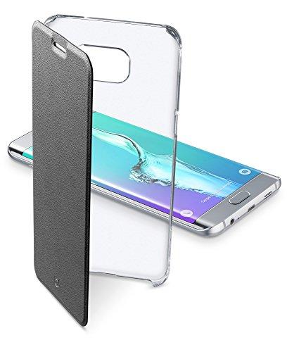 Cellular Line CCLEARBOOPHS6EPLK Clear Book Tasche für Samsung Galaxy S6 Edge Plus schwarz