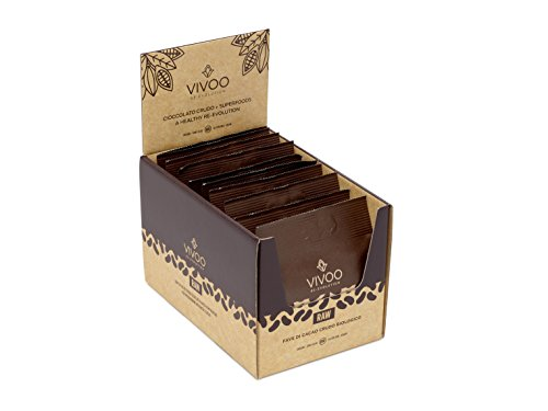 VIVOO RE-EVOLUTION, Fave di Cacao Crudo Biologico, confezione da 10 bustine