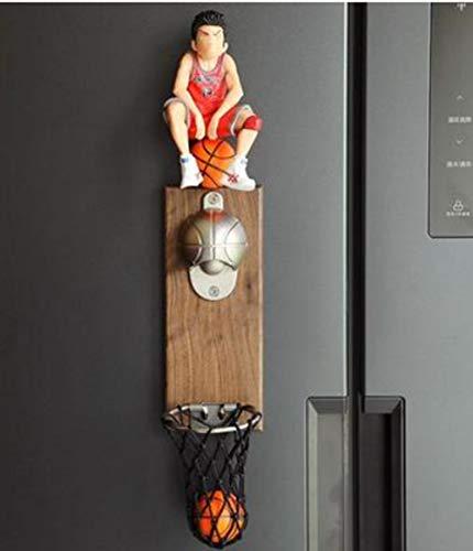 BINGFENGBINGFENG Beliebt! Tick Tack! ! ! Creative Slam Dunk Bier Schießkorb Basketball Rack Flaschenöffner Kühlschrank Magnete Wand-Basketball Rack Flaschenöffner