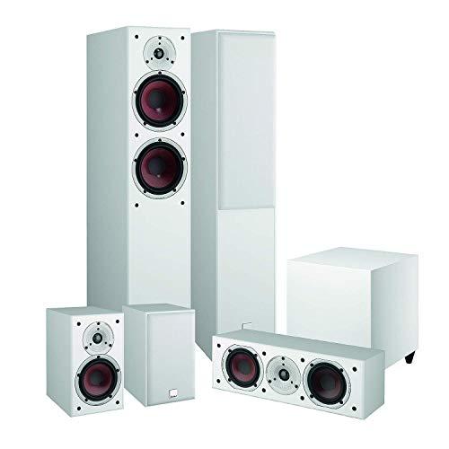 Dali Spektor 6/1 Heimkinoset Weiß (5.1 Set, 6-teilig, 2-Wege System, 30-150 Watt Belastbarkeit, 33 Hz-26 kHz Frequenzbereich, 170 Watt aktiver Subwoofer)
