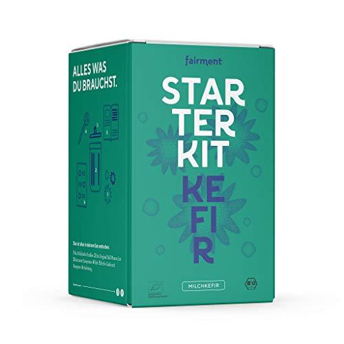 Fairment Starterkit Kefir - Milchkefir einfach selber machen - mit Bio Kefirkultur, Zubehört und...