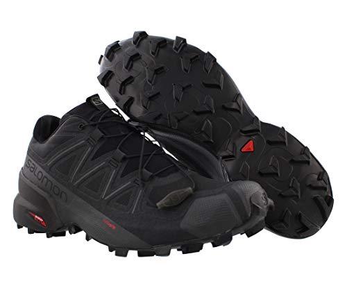 Salomon Men's Speedcross 5 Trail Running, Black/Black/Phantom, 9.5
