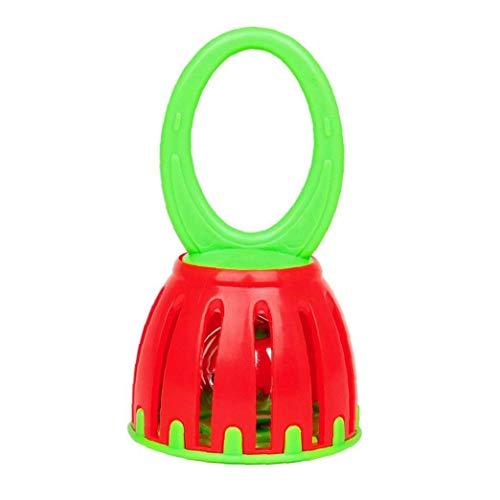 Juguetes para Niños Instrumentos Musicales para Niños Pequeños Hualing Batería De Madera De Percusión Instrumentos Conjunto De Juguete De Plástico Linterna Mini Campana Campana Manejadas Jaula
