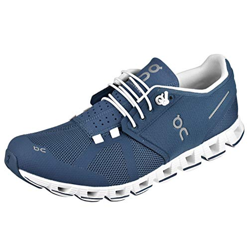 On Cloud Running Womens Shoes Size 8.5 Denim/White
