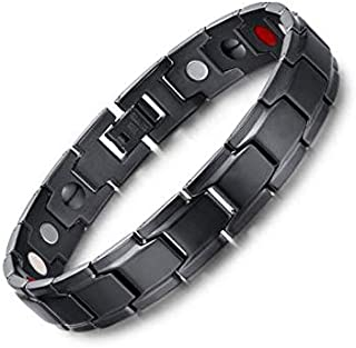 Medical energy bracelet with germanium stone and magnet to get rid of electrical charges in the body and the balance of bl...