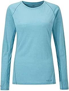 RAB Merino+ 120 Long Sleeve Zip - Womens, Cool Grey, Extra Large, QBU-27-CG-16