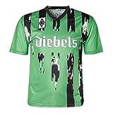 Score Draw Herren Retro - Trikot Borussia Mönchengladbach | Auswärtstrikot 1995 in Grün, Größe: L