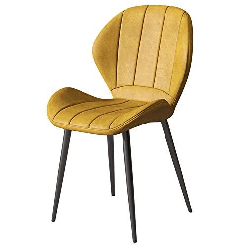 WWL Comedor Oficina sillas Comedor Sillas Hogar Nórdico Creativo Ocio Café Silla Respaldo Luz Taburete Lujo Net Red Silla Cuero Moderna Simple sillas de Comedor tapizadas Tela (Color : Z)