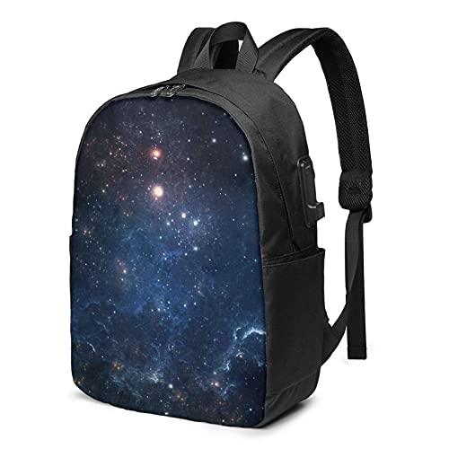 XCNGG Mochila Milky Way, Mochila con Puerto de Carga USB y P