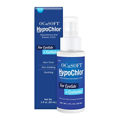 OCuSOFT Hypochlor Hypochlorous Acid Solution Spray 0.02% 59 Milliters, Eyelid Spray for Irritated Eyelids