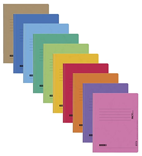 10 Schnellhefter Papphefter 10 Farben extra stark Brunnen Hefter 375g (10er Pack, Sortiert Schule)