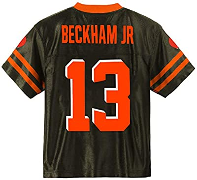 Odell Beckham Jr Cleveland Browns #13 Brown Youth Player Home Jersey (X-Large 18/20)