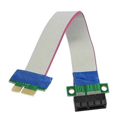 WINGONEER PCI-Express PCI-E 1X Riser-Karte Flex-Verlängerungskabel für PC