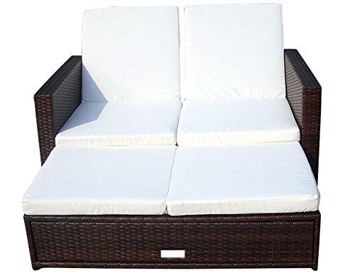 Baidani Multifunktionale Rattan Doppelliege/Sofa Harmony, braun meliert