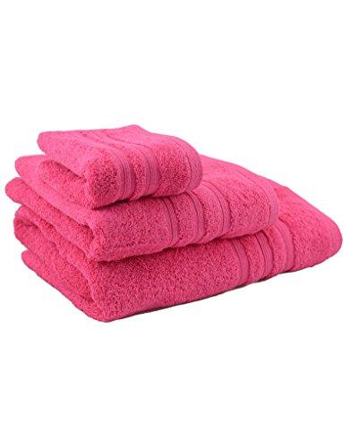 Homeline badhanddoek voor wastafels, 50 x 100 cm, fuchsia