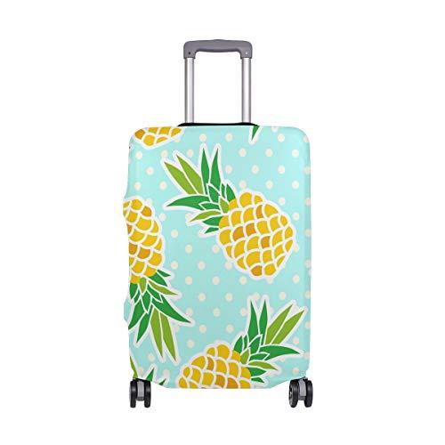 Funda protectora de licra para equipaje de piña de frutas con lunares, maleta de viaje, para adultos, mujeres, hombres, adolescentes, se adapta a 18-20 pulgadas