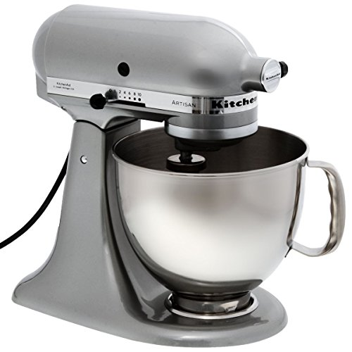 KitchenAid 5KSM150PSEMC Robot De Cocina, 300 W, Acero Inoxidable, 10 Velocidades, Cromo