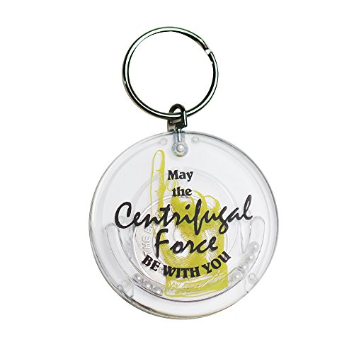 Mr. Sci Science Factory Centrifugal Force Keychain–Coin Trap (Yellow)