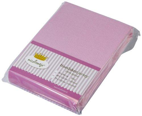 Nicolientje 700844 Jersey Spannbetttuch, 40x80 cm, pink