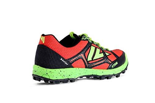 VJ Sport VJ XTRM Mens Fell Running Shoes Red/Green/Black UK 8