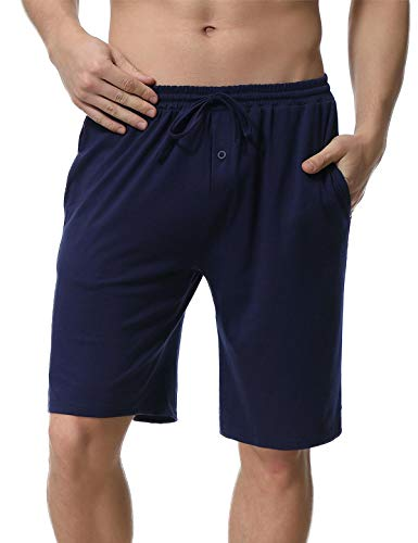 Abollria Herren Schlafanzughose Kurz Pyjamahose Bermuda Baumwolle Nachtwäsche Sleep Hose Sporthose Freizeithose Remix Basic