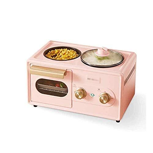 TWDYC Elektro-Ofen Frühstück Maschine, Multi-Funktions-Four-in-one Faule Brot-Maschine, Eierkoch Artifact (Color : Pink)