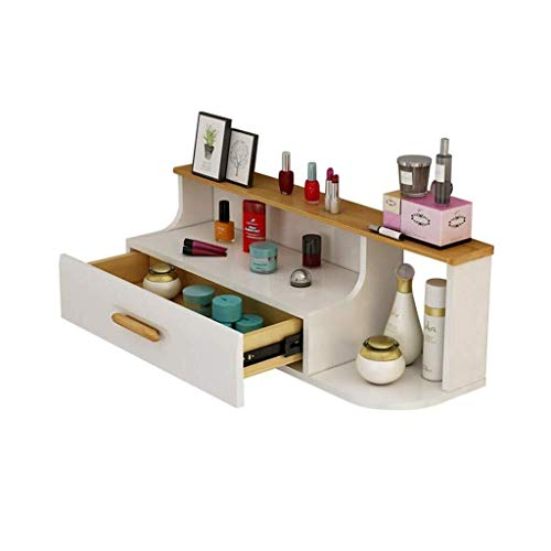 GJX Floating Shelves Wall Shelf 3 Layers Wall Shelves Dressing Table Storage Cabinet Easy To Push And Pull Oversized Storage Floating Shelves