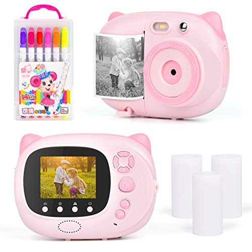 "Upgrow Sofortbildkamera Kinder Kamera, Digitalkamera für Kinder, 24 Megapixel HD Kamera mit 2.4\"" IPS farbig Bildschirm, Sofortdruck Kamera, Mini Camcoder"