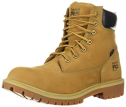 Timberland PRO Women's Direct Attach 6' Steel Toe Waterproof Insulated Industrial & Construction Shoe, Wheat Nubuck, 7
