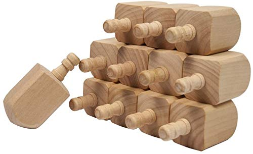Dreidels - Wooden Dreidels Unfinished, Large 2-1/2 x 1 Inch, Pack of 100 Blank Wooden Dreidels Ready to Decorate, Perfect for Hanukkah Party's - Projects, Crafts & Family Fun by Woodpeckers