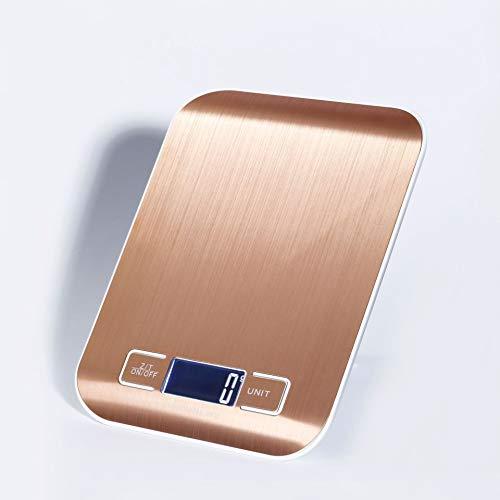 ZUIZUI Cocina Báscula Digital Electrónica, Golden Kitchen Scale, Battery Powered, Rango de pesaje 1g-10kg, Adecuado para Cocina, Sala de Hornear, etc.