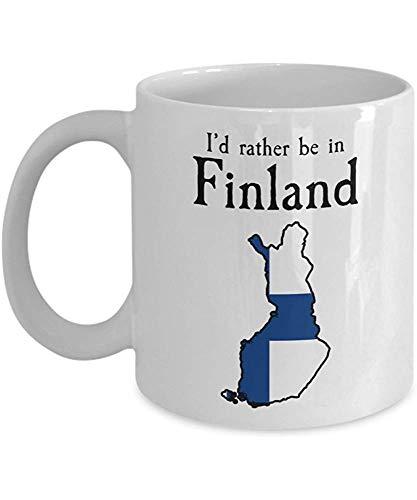 Ich würde eher in Finnland-Kaffee-Tasse sein