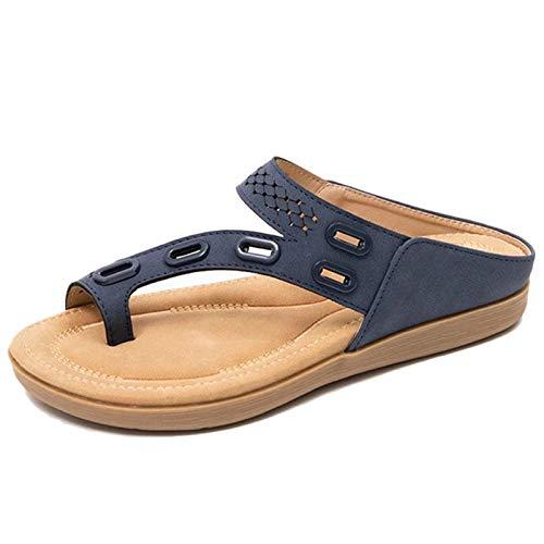 Koyike Férulas para Juanetes Separador de Dedos, Punta Abierta Plataforma Sandalia Mujer,Moda Antideslizante Zapatillas de Playa,para el Tratamiento Hallux Valgus,Blue-41