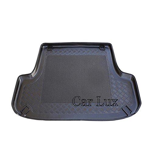 Car Lux AR01746 - Alfombra Bandeja Cubeta Protector cubre maletero a medida con antideslizante Montero Sport