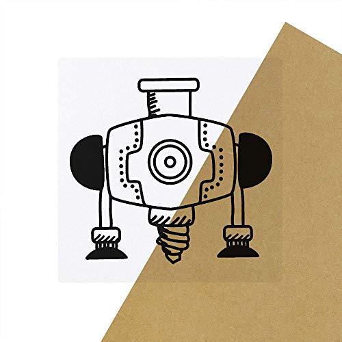 6 x 'Industriebohrer' Transparente Aufkleber / Stickers (SK00030632)