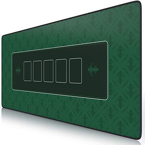 CSL - XXL Mauspad Gaming Titanwolf 900 x 400mm - XXL Poker Mousepad groß im Poker Stil - Tischunterlage Large Size - verbessert Präzision und Geschwindigkeit - Pokermatte Grün