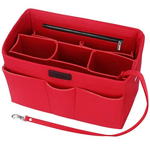 Taschen Organisator für Frauen Handtaschen, Betoores Filz Taschenorganizer Bag in Bag Handtaschenordner Organizer für Speedy 30,Rot - M