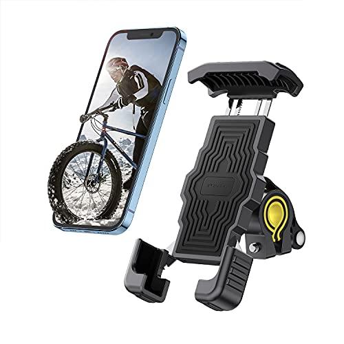 Stouchi Fahrrad Handyhalterung,Handyhalter Motorrad - Universal Halterung Fahrrad für 4.7-6.8 Zoll Smartphone mit 360° Drehbare Outdoor Fahrrad Halter,für Phone 12 Mini,11 pro,XR,6S,Samsung S10 S9 S8