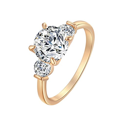 YAZILIND 18K Belief Decration Crystal Ring Girls Favorite Gold Plated New Coming Size R 1/2