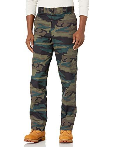 Dickies Original 874 Work Pant Pantalones de utilidades de Trabajo, Camuflaje Verde Cazador, 28W/30L para Hombre