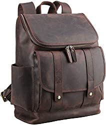 Polare Rustic Leather Laptop Backpack