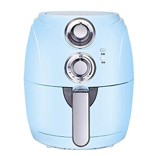 Freidora de aire,Sin Aceite,Air Fryer,Freidoras,Máquina automática de papas fritas inteligente para el hogar, freidora eléctrica sin aceite de gran capacidad (110-220V)-blue