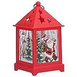 YIFengFurun Adornos navideños para el hogar, Linterna navideña con luz Nocturna LED, Adornos navideños para decoración navideña