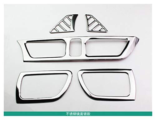 MeiZi 5PCS / Set Car Styling, Cubierta DE Venta DE Ventilador DE Air DE Air Ajuste FAMISE para KIA Rio 3 K2 2011-2014 2015 2016 Accesorios Car (Color Name : Silver)