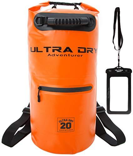 Ultra Dry Premium Waterdichte Tas, Zak met telefoon droge tas, Voorvak met rits en lange verstelbare schouderriem inbegrepen, Perfect voor kajakken/varen/kanoën/kamperen/Raften/Zwemmen/Vissen