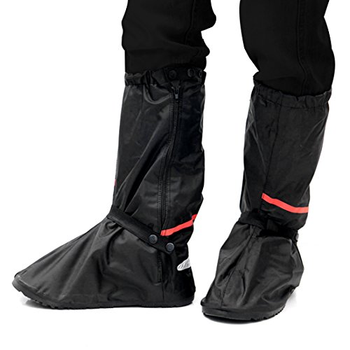 copriscarpe impermeabili, Onlyhere 1 Coppia di Copriscarpe impermeabile della pioggia pioggia calzari con impermeabile antiscivolo in gomma spessa suola 41-42 EU, 30.5CM, L