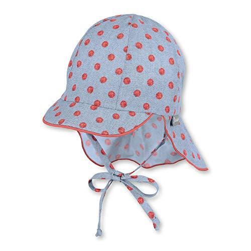 Sterntaler Baby-Mädchen Schirmmütze mit Nackenschutz Mütze, Blau (Himmel 325), XXX-Groß (Herstellergröße: 45)